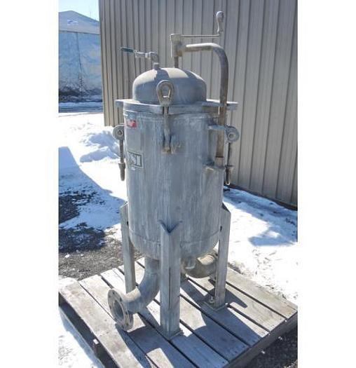 """USED FILTER, """"MULTI"""" BASKET TYPE, 4"""" INLET/OUTLET, 304 STAINLESS STEEL"""