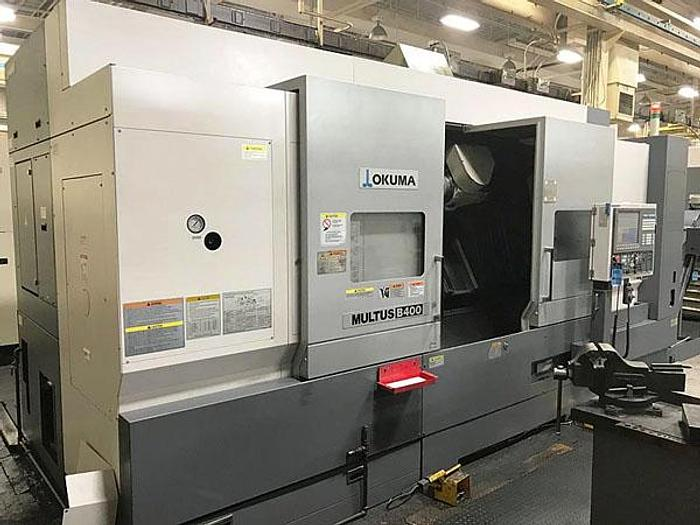 Used 2011 3099, Okuma Multus, B-400, CNC Universal Head, Live Tooling and Y-Axis, 2011 Okuma