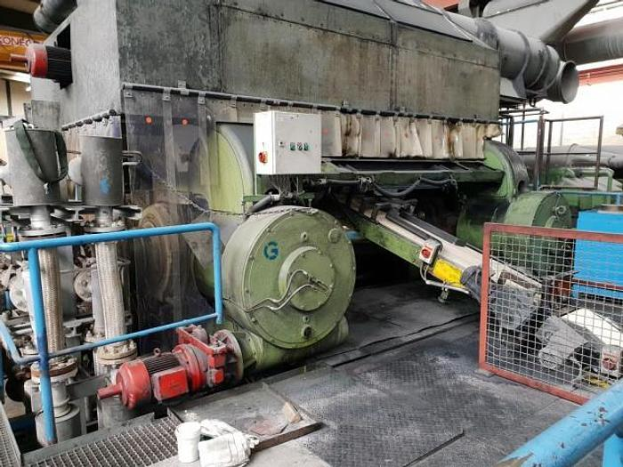 Used 1966 Berstorff 2440 x 850mm 4 roll inverted L