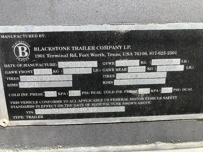2010 BLACKSTONE  PRESSURE PUMPER