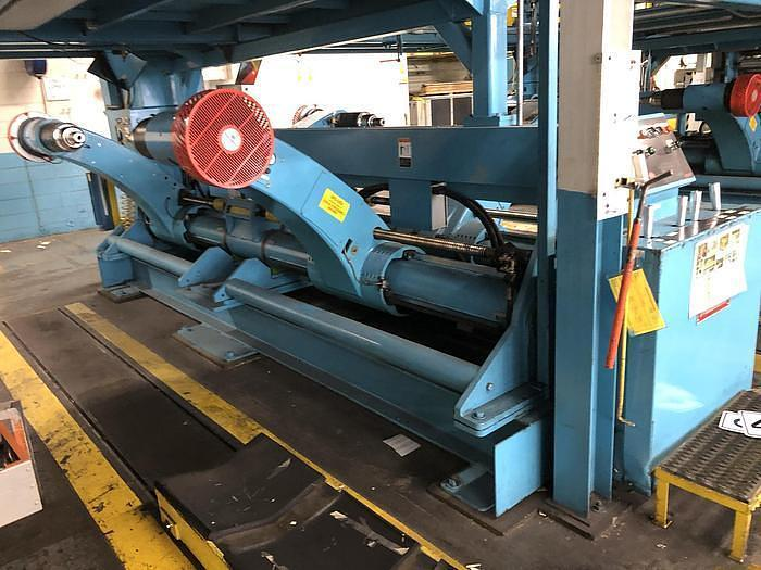 """Used 90"""" MARQUIP DUAL UNWIND STAND  72"""" DIA. ROLLS"""