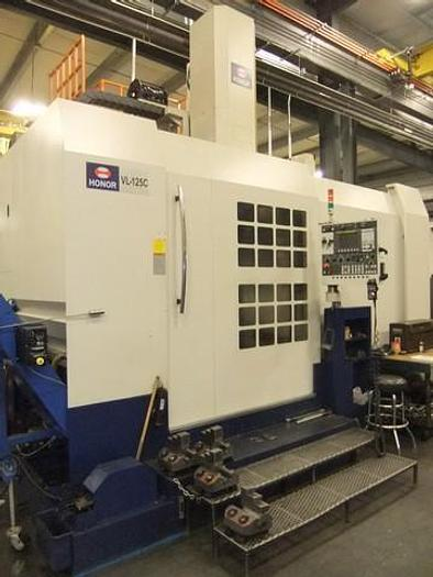 Used 2014 Honor Seiki VL-125C Double Column Vertical Turning Center