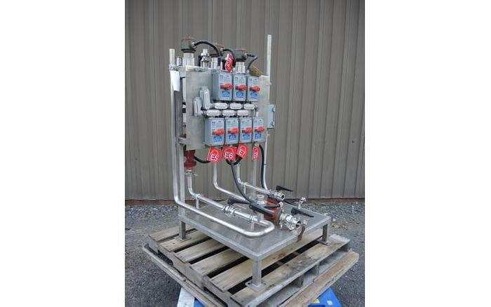 USED SKID MOUNTED STAINLESS STEEL HEATING SYSTEM