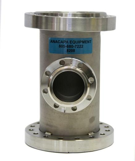 """Used MDC 3-Way Tee Reducer W/ Flange Reducer 6"""" OD Stainless Steel (8208)W"""