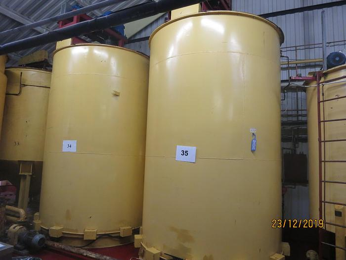 (18) assorted chocolate tanks, between 4000kg up to 20,000kg