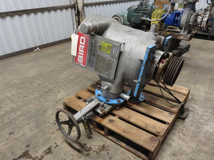 Used BIRD 200 OMNISCREEN 316 S/S NO MOTOR