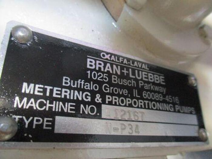 ALFA LAVA/BRAN LUEBBE N-P34 PUMPING SYSTEM W/MICRO MOTION FLOW
