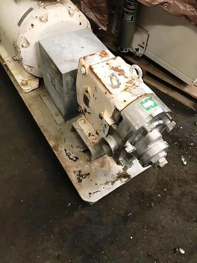 Waukesha Used Port. S.S. Pump Mod #60 powered by 5 HP Baldor Motor