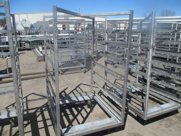 "Used Stainless Steel Meat Racks;3'W 42""L 74""T"