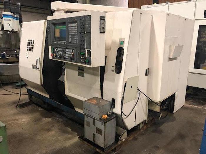 Used 1996 OKUMA LU15 CNC Lathe, Twin Turret, Tailstock, OSP 7000L Control
