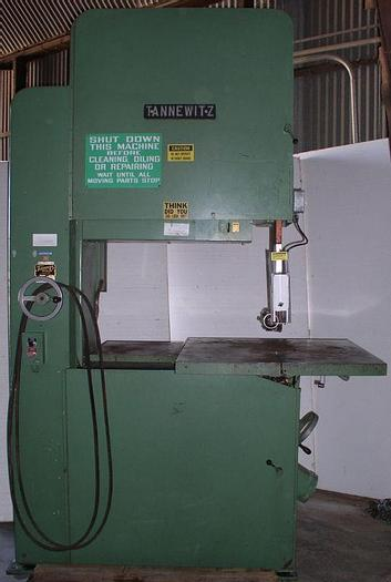 "Used 36"" Tannewitz Model G1NE Vertical Band Saw; S/N 80129"