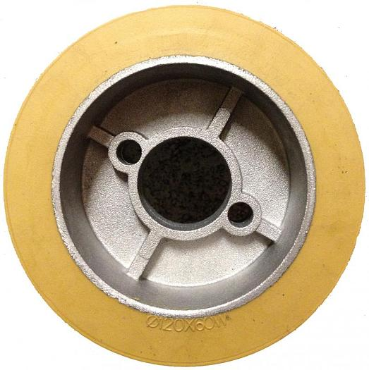 "Rubber Power Feeder Wheels 4-3/4"""