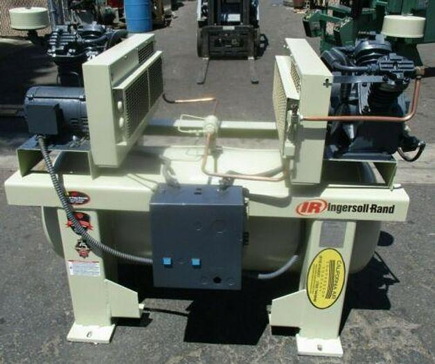 Used Ingersoll Rand Duplex 2-2475E5, 2 x 5hp Air Compressor, 120 Gallon Tank 208V 3ph