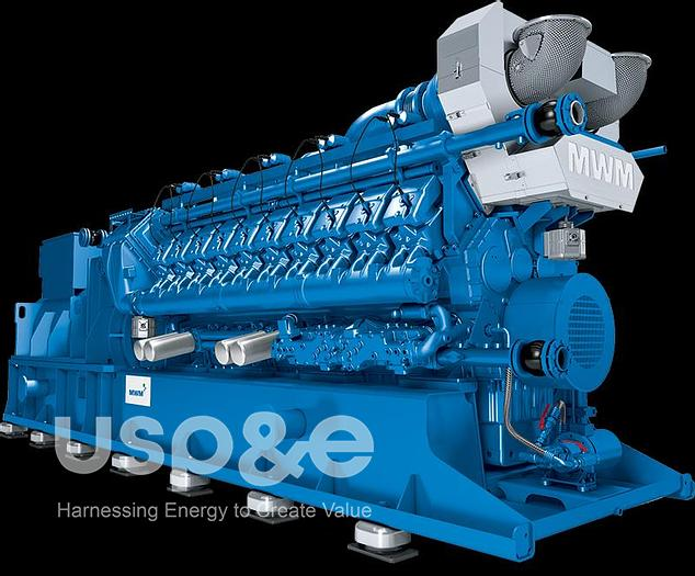 2 MW 2018 New MWM TCG2020V20 Natural Gas Generator