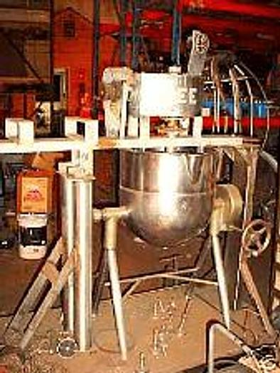 Used 20 GALLON B.H. HUBBERT & SONS SINGLE MOTION KETTLE – S/S – JACKETED