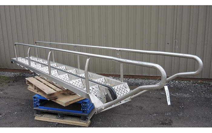 Used USED STAIR CASE, ALL STAINLESS STEEL CONSTRUCTION, 2' WIDE X 18' HIGH