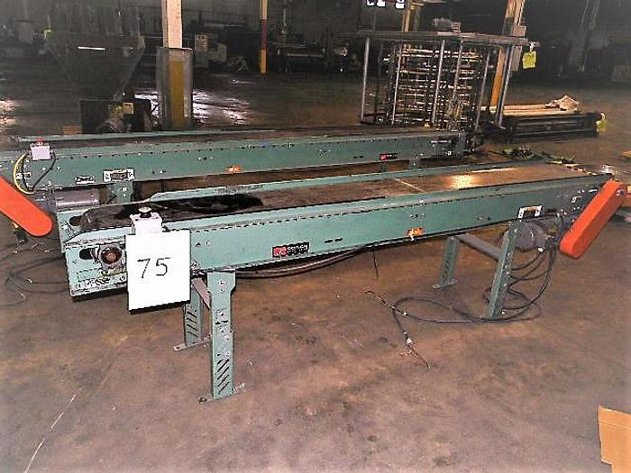 """Used 2)Roach Power Belt Conveyors, 1/3HP 1)10""""x12"""" and 1)12""""x12"""" STOCK # 4679-007"""