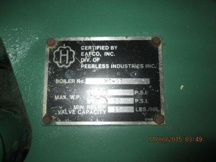 PEERLESS MODEL MC 07 50 PSI BOILER