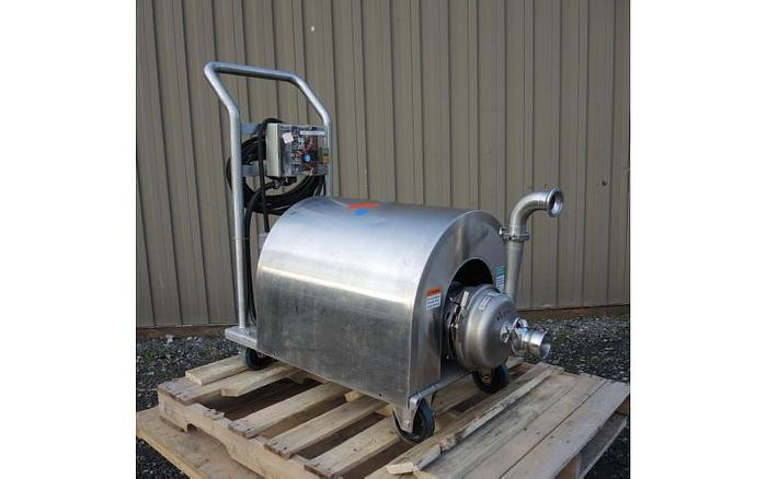 "USED CENTRIFUGAL PUMP, 2.5"" X 2"" INLET & OUTLET, STAINLESS STEEL, SANITARY"