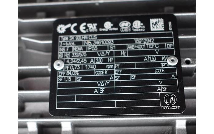 USED 2 HP SCRAPE AGITATOR MIXER, STAINLESS STEEL