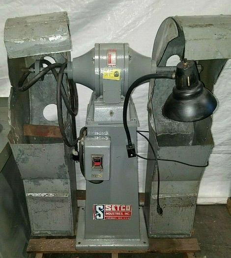 Used Setco Cadet #101 Double Wheel Buffer 1 HP 440V Polisher Grinder Jack Lathe