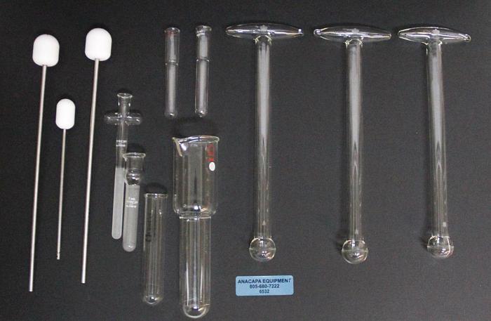 Used Kontes Kimble Pyrex Wheaton Homogenizer Grinder Tissue Pestle & Mortar LOT 6532