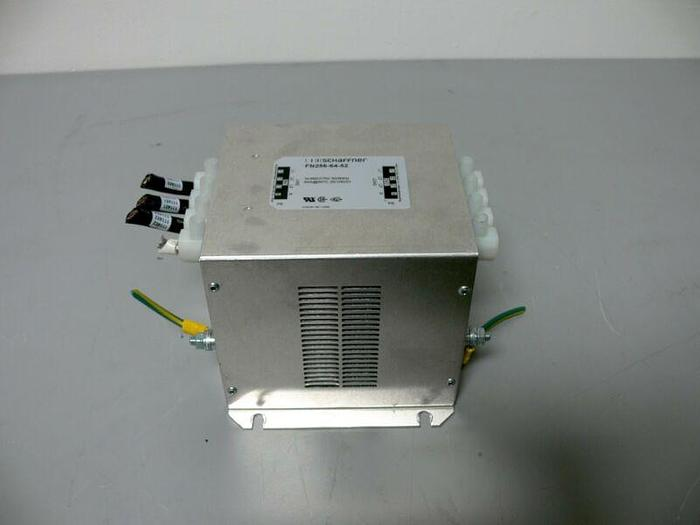 Used Schaffner FN256-64-52 Powerline Filter 480VAC 64A