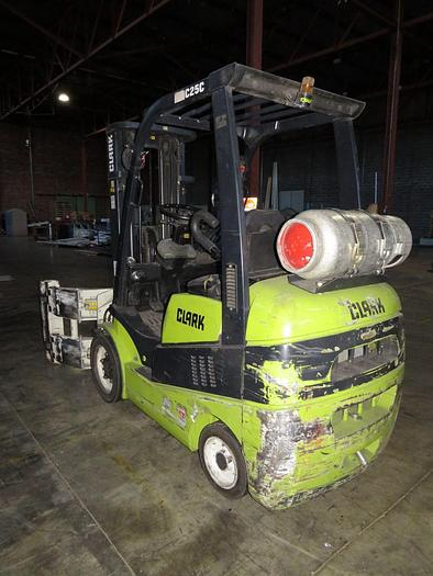 Used Clark Mdl. C25CL Fork lift with Cascades Clamp