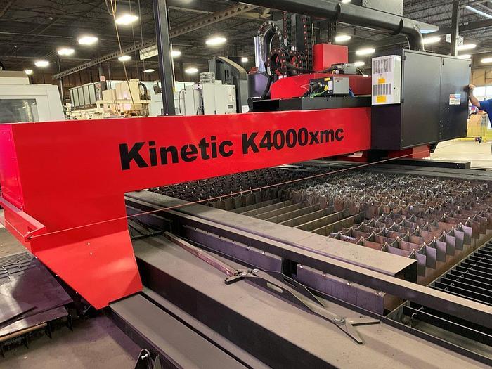 Used 2018 Kinetic K4000XMC CNC Plasma w. Drilling/Milling Capability