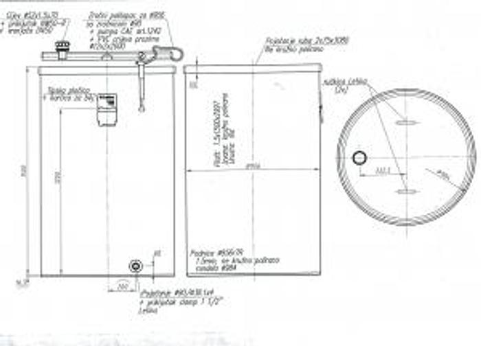Letina 290 gallon single wall tank