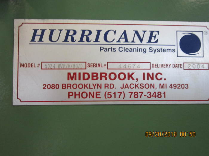 2004 Midbrook -  Hurricane  Belt Washer 5024- W/R/R/BO/D