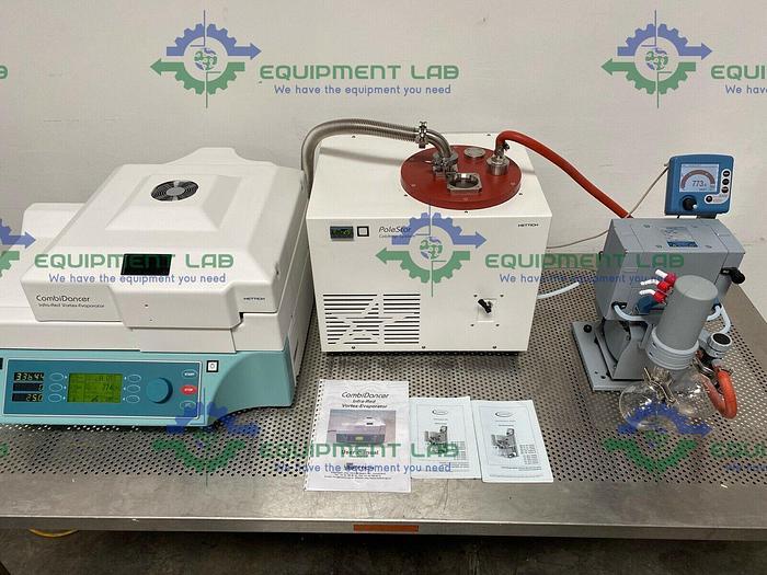 Used Hettich CombiDancer Infra-Red Vortex-Evaporator PC 3003 Vario Vacuum Pump