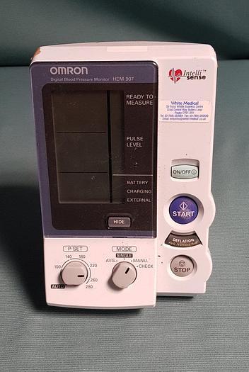 Used OMRON HEM-907-E Oberarm-Blutdruckmessgerät Blood Pressure Measuring Device
