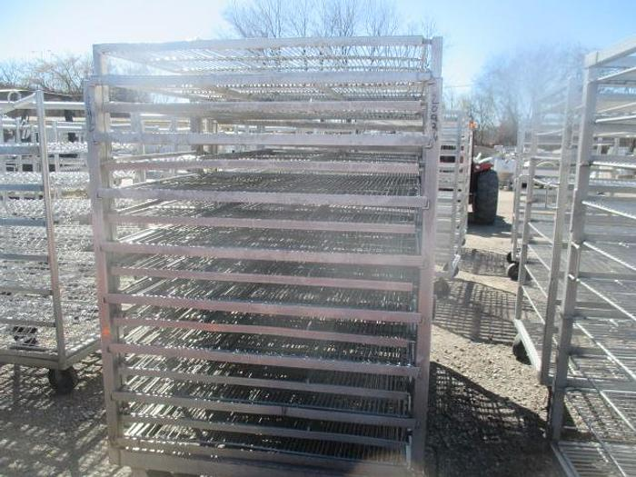 "Used Stainless Steel Meat Racks; 41""W 52""L78""T"