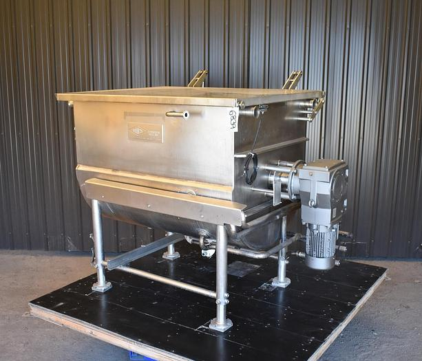 Used USED TUCS PADDLE BLENDER WITH SCRAPERS, 25 CUBIC FEET, JACKETED & INSULATED, 316 STAINLESS STEEL