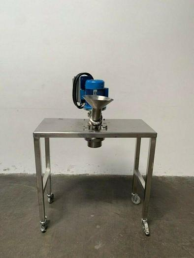 Used Custom Stainless Steel Lab Mill w/ Alpak Induction 1 HP Motor on SS Rolling Cart