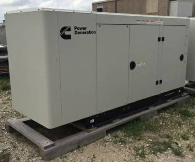 NEW ONAN/CUMMINGS 80KW GENERATOR NATURAL GAS, LP SURPLUS UNIT