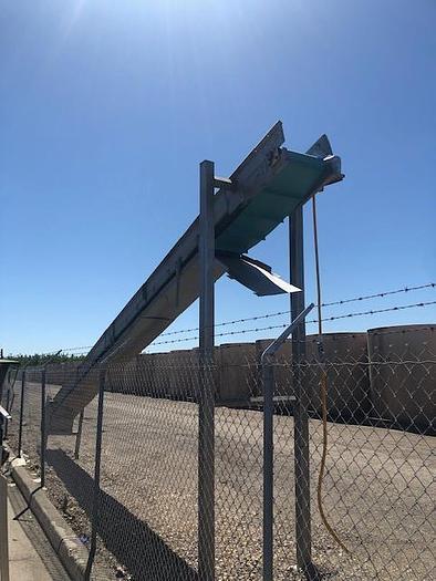 30'L X 18''W Stainless Steel Flighted Incline Belt Conveyor