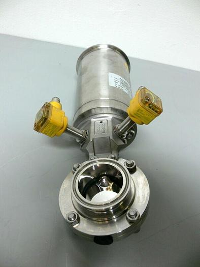 Used GEA Tuchenhagen 7330-2002-0220-0000 INK.22B0 Valve w/ 2 Turck Proximity Sensors