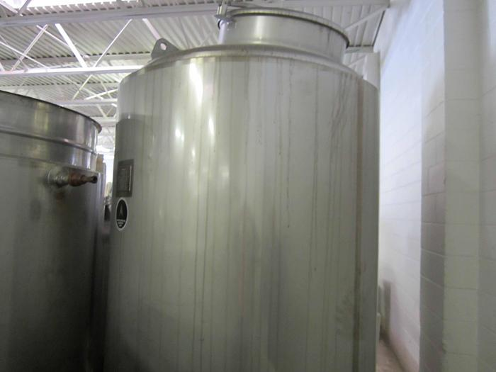 2004 APACHE STAINLESS STEEL 500 GALLON JACKETED TANK