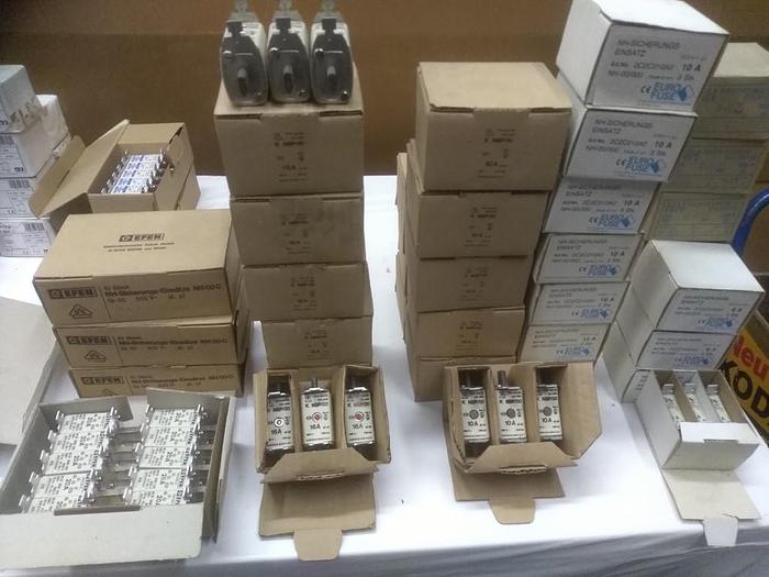 583 Stk. neue NH Sicherungen, 6A bis 1600A, Verschiedene Hersteller, Insolvenzware, neuwertig -80%