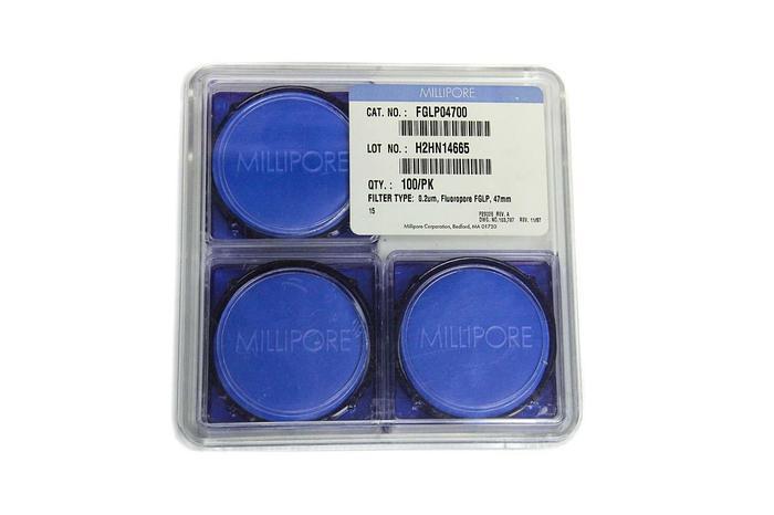 Used Millipore Fluoropore FGLP 47mm .02um FGLP04700 Quantity 75 (5144)