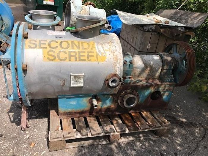 Used FIBERPREP MDL CH5 PRESSURE SCREEN S/S  NO BASKET