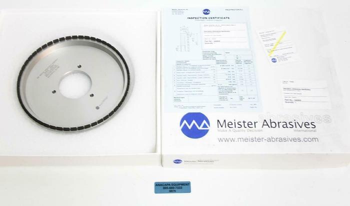 Meister Abrasives 346805 Ceramet DIA Diamond Wheel Max RPM 4720 NEW (6875)