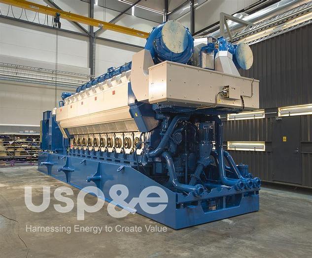 8.7 MW 2008 New Wartsila 20V34SG Natural Gas Generator