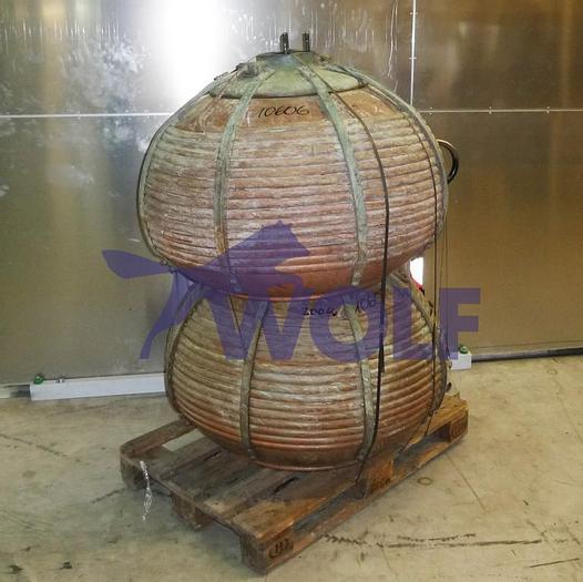 Gebraucht gebr. Kupfer-Drageekessel ca. 1050 mm Durchmesser