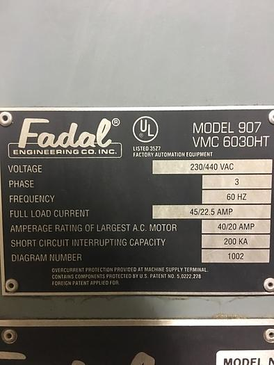 1993 FADAL 6030 VERTICAL MACHINING CENTER