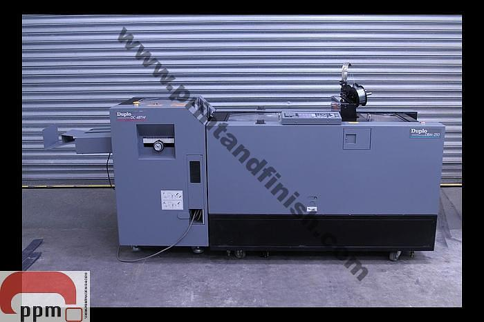 Used Duplo DBM250 Booklet Maker with Duplo DC-48TW Trimmer