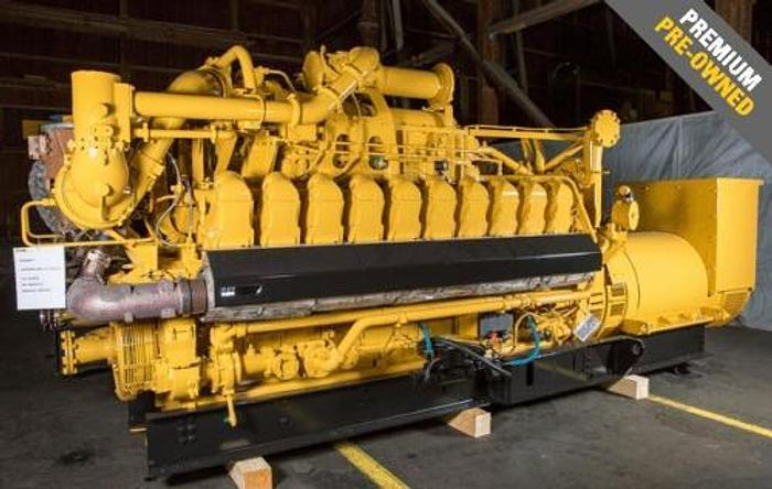 Used 1.95 MW 2017 Used Caterpillar 3520C Gas Generator Set