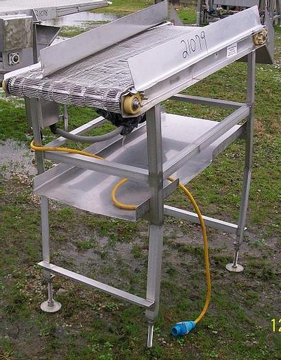 """Used Wire Belt Conveyor; 20""""Wx57""""L, electric drive"""